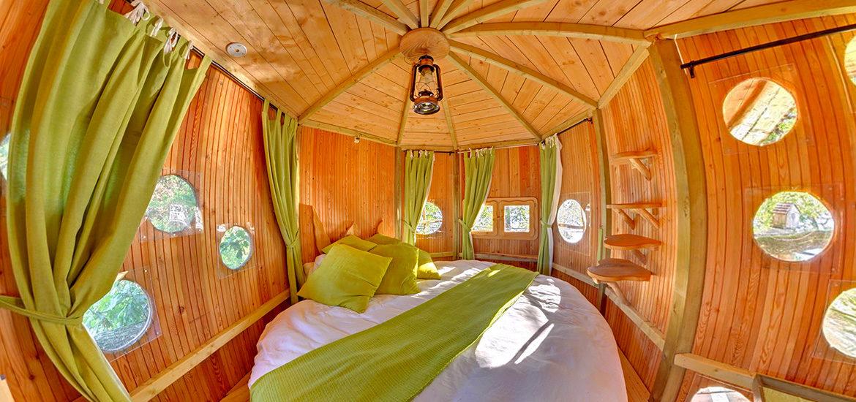visite virtuelle cabane bois relais du gue de selle