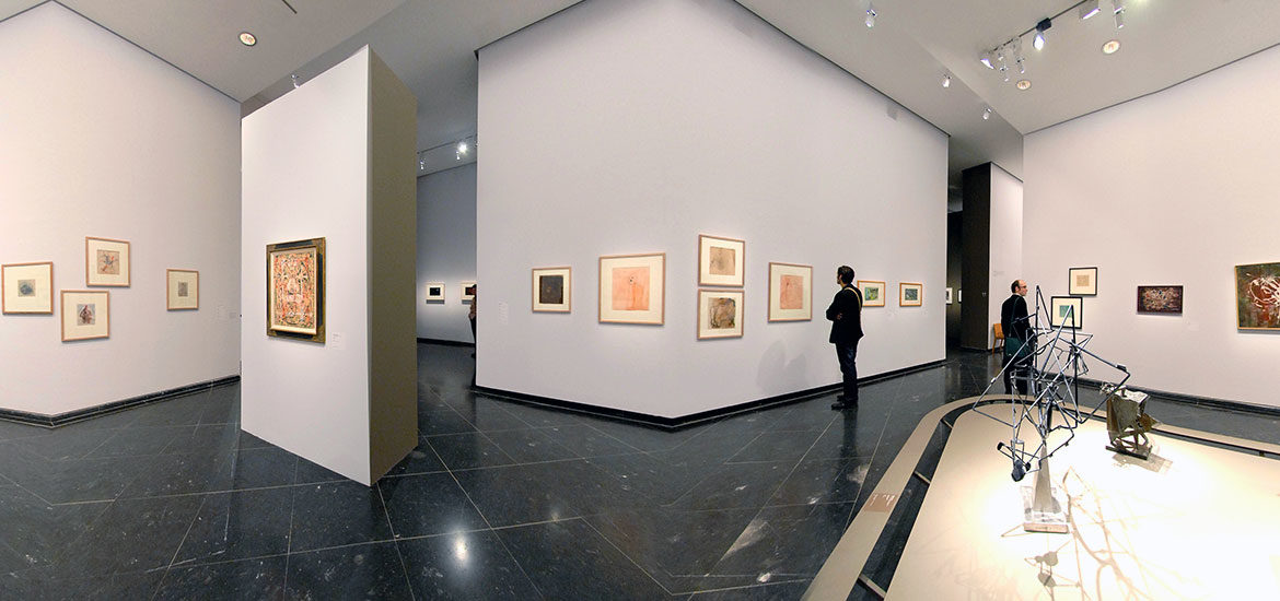 visite virtuelle Pollock, Newman, Rothko, Soulage