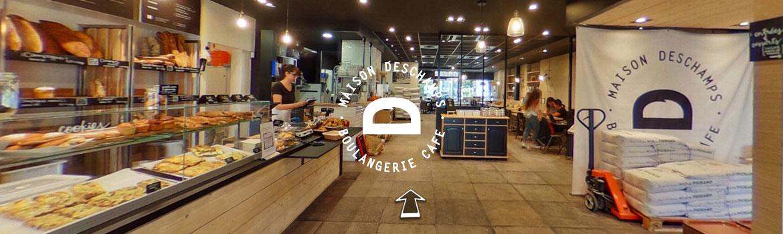 Maison Deschamps – Boulangerie et café – Visite virtuelle 360°