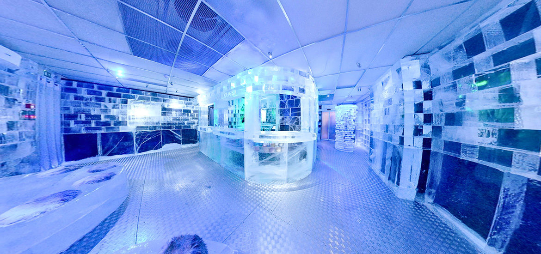 visite virtuelle ice Bar de glace