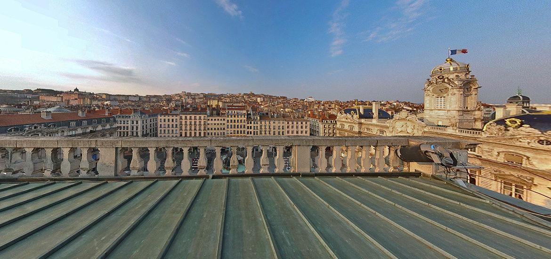 visite virtuelle toit de Lyon