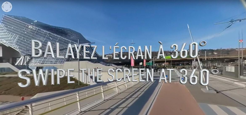 vidéo 360° Lyon confluence