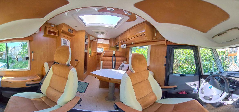 visite virtuelle camping car Rapido 9083 DF